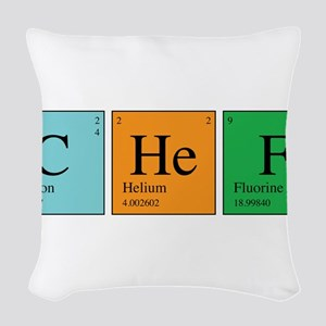chem_chef Woven Throw Pillow