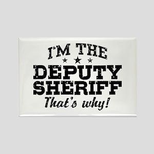 Funny Deputy Sheriff Rectangle Magnet