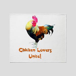 Chicken Lovers Unite! Throw Blanket