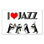 Jazz Rectangle Sticker