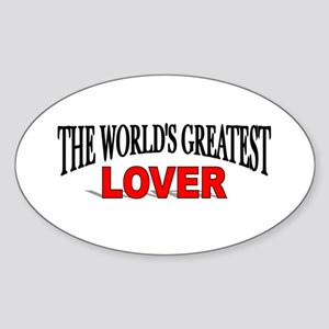 """The World's Greatest Lover"" Oval Sticker"
