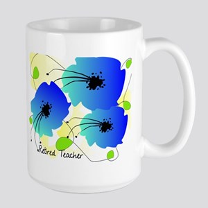 Retired Teacher Floral Mug