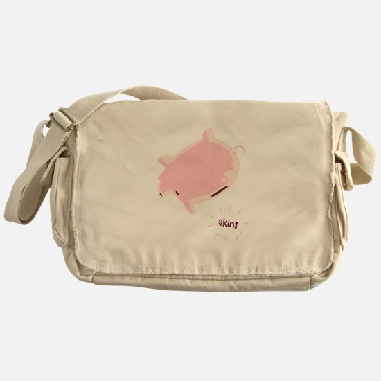 Empty Piggy Bank Messenger Bag