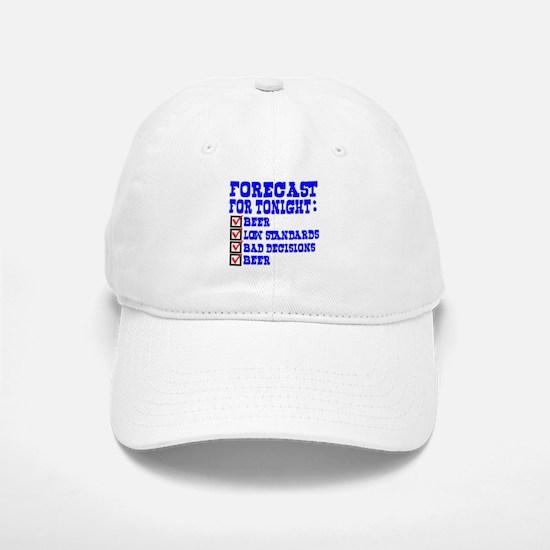 Forecast for tonight Baseball Baseball Cap