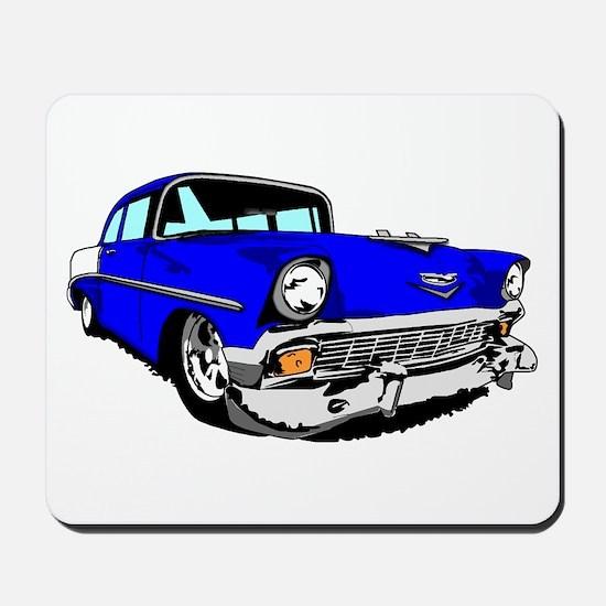56 Bel Air 2 Door Blue Mousepad