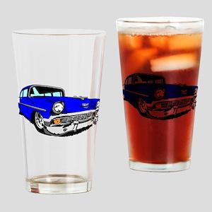 56 Bel Air 2 Door Blue Drinking Glass