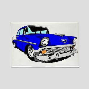 56 Bel Air 2 Door Blue Rectangle Magnet