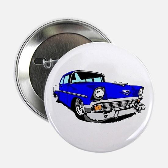 "56 Bel Air 2 Door Blue 2.25"" Button"
