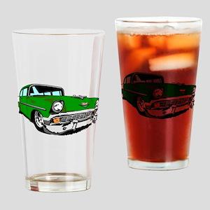 56 Bel Air 2 Door Green Drinking Glass