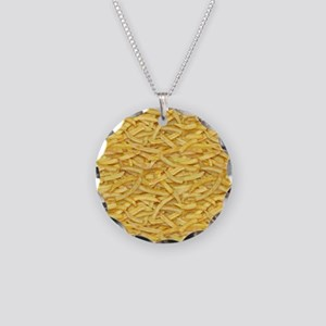 Free Fries Necklace Circle Charm