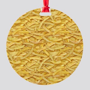 Free Fries Round Ornament