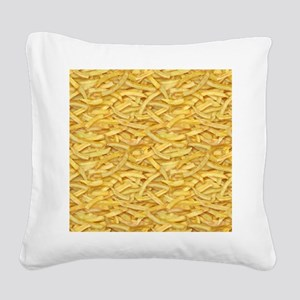 Free Fries Square Canvas Pillow