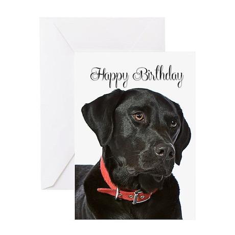 Black Lab Birthday Card By Shopdoggifts