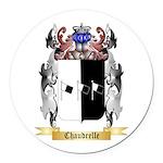 Chaudrelle Round Car Magnet
