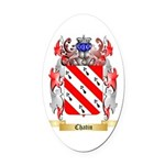 Chatin Oval Car Magnet