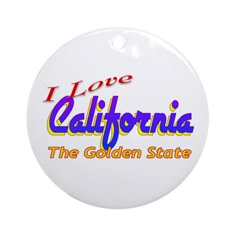 I Love California Ornament (Round)