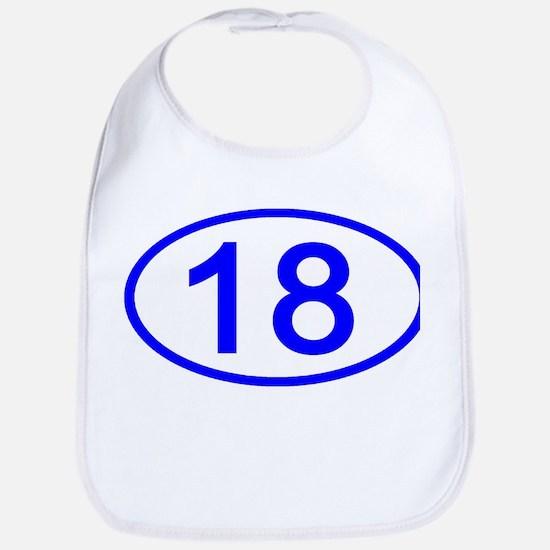 Number 18 Oval Bib