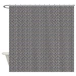 Diamond Metal Plate Industrial Shower Curtain