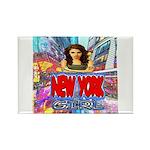 new york city girl Rectangle Magnet