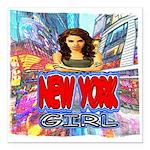 new york city girl Square Car Magnet 3