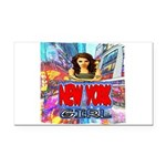 new york city girl Rectangle Car Magnet