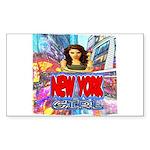 new york city girl Sticker