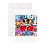 new york city girl Greeting Cards (Pk of 10)