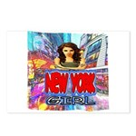 new york city girl Postcards (Package of 8)