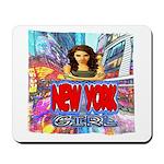 new york city girl Mousepad