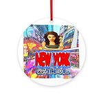 new york city girl Ornament (Round)