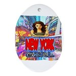 new york city girl Ornament (Oval)