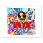 new york city girl Poster Design
