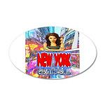 new york city girl Wall Sticker