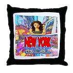 new york city girl Throw Pillow