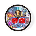 new york city girl Wall Clock