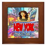 new york city girl Framed Tile