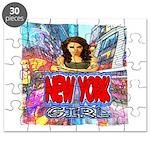 new york city girl Puzzle