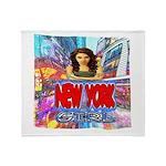 new york city girl Throw Blanket