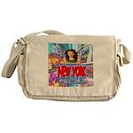 new york city girl Messenger Bag