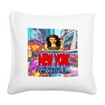 new york city girl Square Canvas Pillow