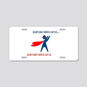 CASA Hero Justice Aluminum License Plate