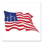 American Wind Power Square Car Magnet 3