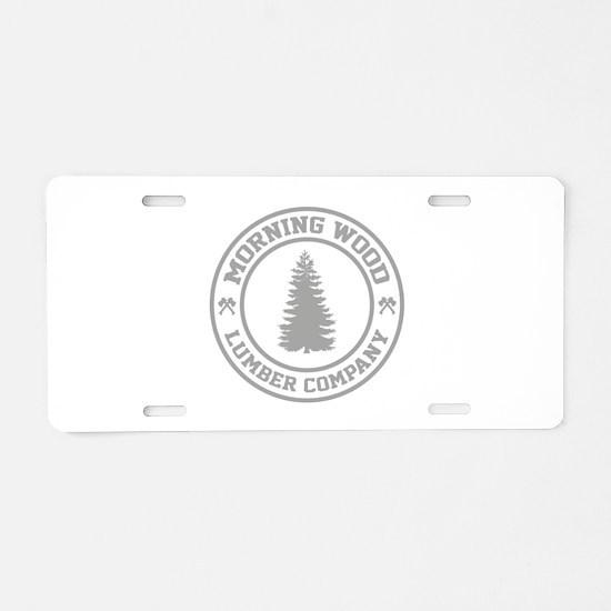 Morning Wood Lumber Co. Aluminum License Plate