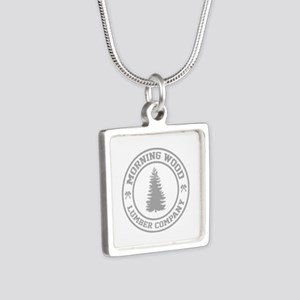 Morning Wood Lumber Co. Silver Square Necklace