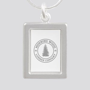 Morning Wood Lumber Co. Silver Portrait Necklace