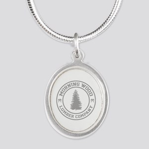 Morning Wood Lumber Co. Silver Oval Necklace