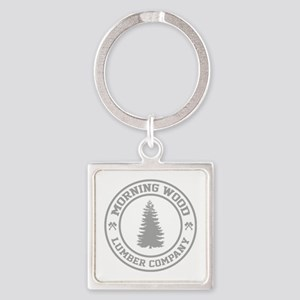 Morning Wood Lumber Co. Square Keychain
