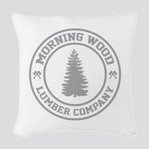 Morning Wood Lumber Co. Woven Throw Pillow