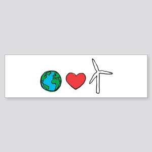 Earth Loves Wind Bumper Sticker