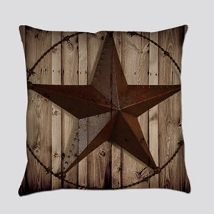 Barn wood Texas star Everyday Pillow